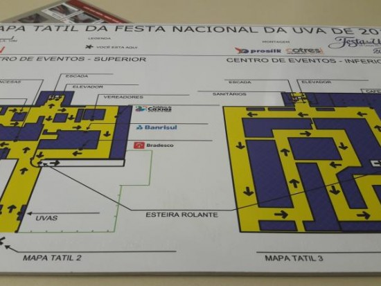 Mapa tátil em Braille